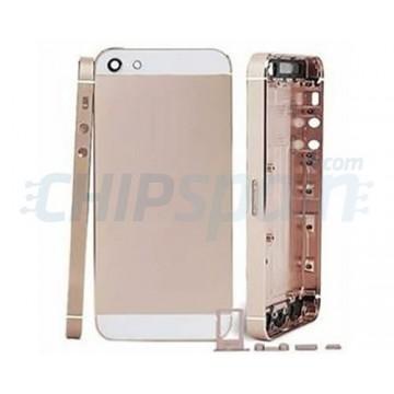 Carcasa Trasera Completa iPhone 5 Champagne Blanco