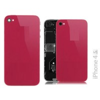 Vidro e traseira iPhone 4S -Magenta