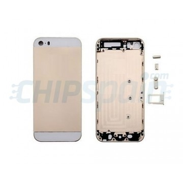 Carcasa Trasera iPhone 5S -Champagne/Blanco