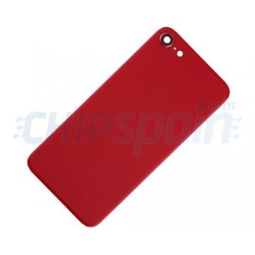 Vidro Traseiro iPhone SE 2020 Bateria Vermelho com Lente