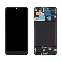 Ecrã Tátil Completo Samsung Galaxy A50 A505F com Marco Preto