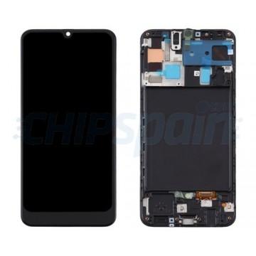 Ecrã Tátil Completo TFT Samsung Galaxy A50 A505F com Marco Preto