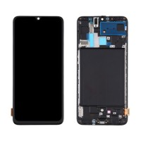 LCD Screen + Touch Screen Digitizer Samsung Galaxy A70 A705 TFT with Frame Black