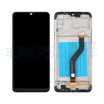 Pantalla Samsung Galaxy A20s A207 Completa con Marco Negro