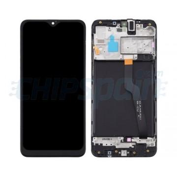 Ecrã Tátil Completo Samsung Galaxy A10 A105 com Marco Preto / VERSION SINGLE CARD SIM