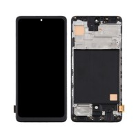 Ecrã Tátil Completo TFT Samsung Galaxy A51 A515 com Marco Preto