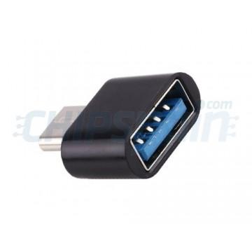 Adaptador USB Tipo C Macho para USB 2.0 OTG Fêmea