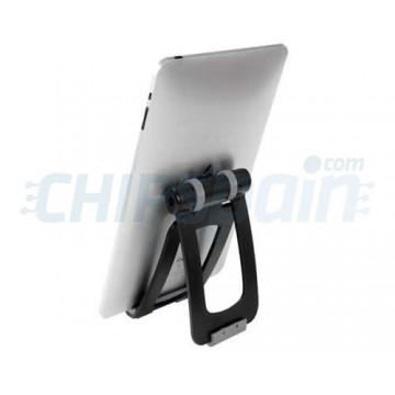 Soporte Universal Articulado para Tablet Móvil Ebook Negro Loctek PAD009