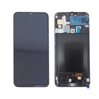 Ecrã Tátil Completo OLED Samsung Galaxy A50 A505F com Marco Preto