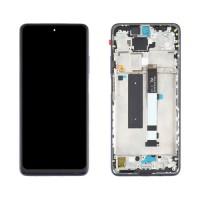 Ecrã Tátil Completo com Marco Xiaomi Redmi Note 9 Pro 5G / Xiaomi Mi 10T Lite 5G Preto
