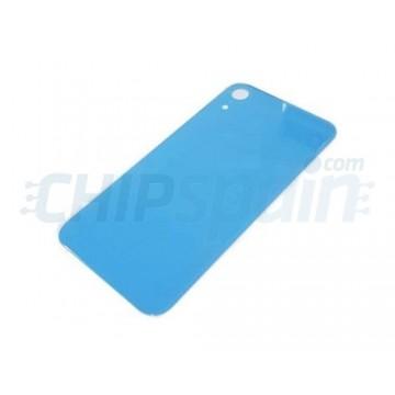 Vidro traseiro iPhone XR A2105 Bateria Azul