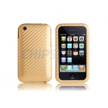 Carcasa Carbon iPhone 3G/3GS -Gold