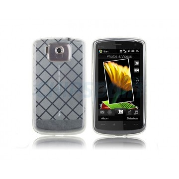 Funda Silicona Square HTC Touch HD -Blanco