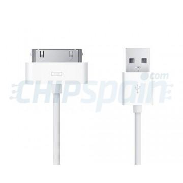 Cabo USB a 30 PIN iPhone/iPad/iPod 2m -Blanco