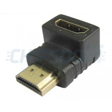 Adaptador 90 º HDMI macho-fêmea