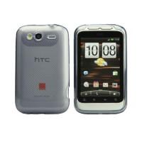 Funda Rhombus Series HTC Wildfire S -Gris Transparente