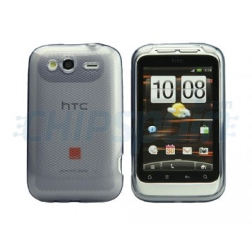 Case Rhombus Series HTC Wildfire S -Transparent Grey