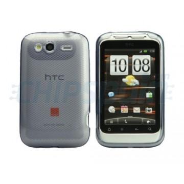 Caso Rhombus Series HTC Wildfire S -Cinzento transparente