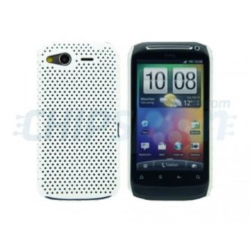 Carcasa Perforated Series HTC Desire S -Blanco