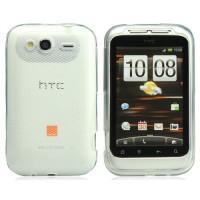 Funda Rhombus Series HTC Wildfire S -Transparente