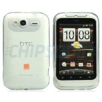 Caso Rhombus Series HTC Wildfire S -Transparente