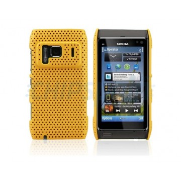 Carcaça Perforated Series Nokia N8 -Amarelo