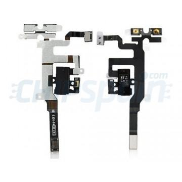 Cabo de áudio flexível iPhone 4S -Preto