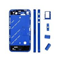 Marco Central iPhone 4 -Azul Metalizado