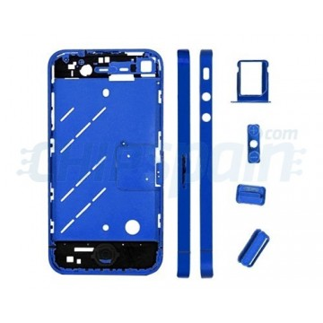 Central Frame iPhone 4 - Metallic Blue