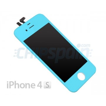Pantalla iPhone 4S Completa Azul Claro