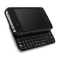 Carcasa con Teclado Deslizable Bluetooth iPhone 4/4S -Negro