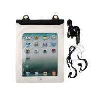 Funda Impermeable al Agua Con Auriculares iPad 2/Nuevo iPad -Blanco