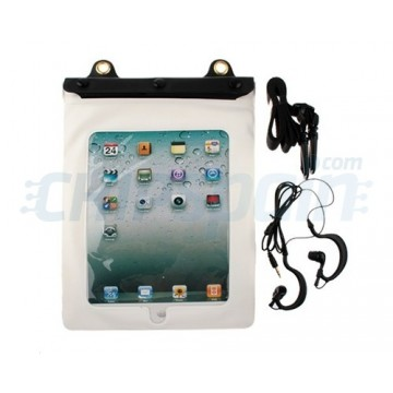 Funda Impermeable al Agua Con Auriculares iPad 2/iPad 3/iPad 4 -Blanco