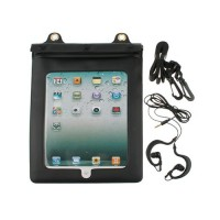 Funda Impermeable al Agua Con Auriculares iPad 2/Nuevo iPad -Negro