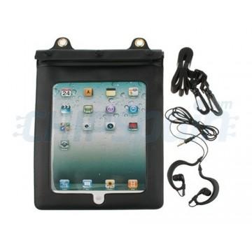 Caso impermeável da água com auscultadores iPad 2/iPad 3/iPad 4 -Preto