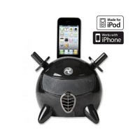Base de Carga con Altavoces i-Ninja iPod/iPhone -Negro