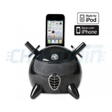 Base de carregamento com altifalantes i-Ninja iPod/iPhone -Preto