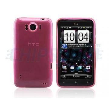 Funda Ultra Clear Series HTC Sensation XL -Rosa