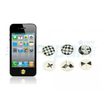 Pegatinas Botón Home iPhone/iPad/iPod Touch -A Cuadros