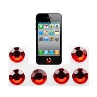 Pegatinas Botón Home iPhone/iPad/iPod Touch -Rubí