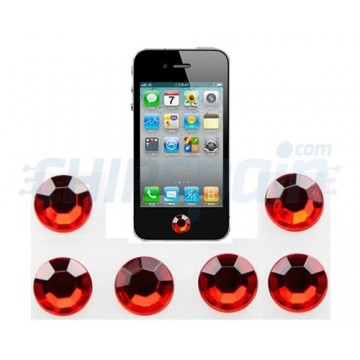 Home button Stickers iPhone/iPad/iPod Touch -Ruby