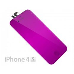 Pantalla iPhone 4S Completa Morado Espejo