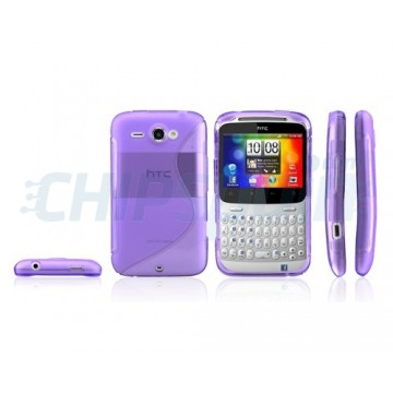 Caso S-Line Series HTC ChaChaCha -Roxo