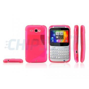 Funda S-Line Series HTC ChaChaCha -Rosa