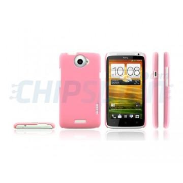 Funda Ideal Series HTC One X -Rosa