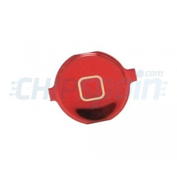 Home Button iPhone 4 -Metallic Red