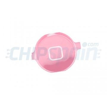 Botón Home iPhone 4 Rosa Metalizado