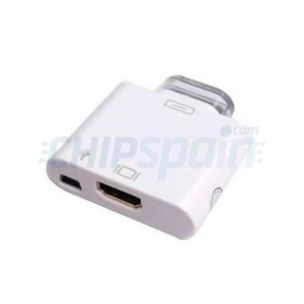 5ec2560f58d Adaptador Conector Salida HDMI iPhone 4/4S/iPad 2/Nuevo iPad ...