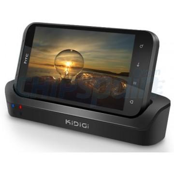 Carregando o berço/sincronização + 2 slot de bateria Kidigi HTC Incredible S