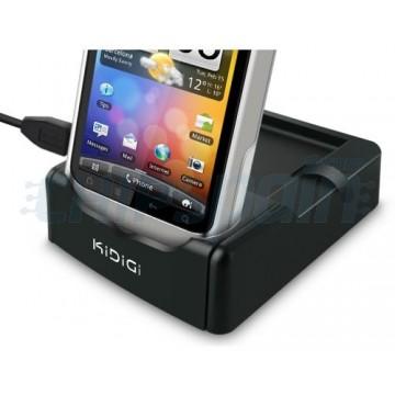 Carregando o berço/sincronização + 2 slot de bateria Kidigi HTC Wildfire S